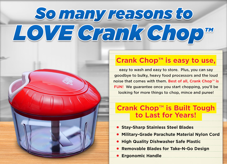 Crank Chop | Chop, Mince and Puree in just seconds!